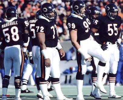 Chicago 1986 Bears Defense 8X10 Photo
