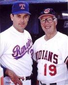 Nolan Ryan & Bob Feller Texas Rangers 8X10 Photo