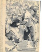Troy Aikman & Todd Bowles Original Wire Photo Laser Paper Stock Approx 8x10 Cowboys