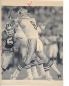 Troy Aikman Original Wire Photo Laser Paper Stock Approx 8x10 Cowboys