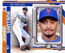 Johan Santana NY Mets 8X10 Photo