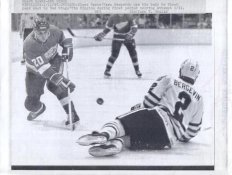 Tim Higgins Red Wings Original Press Photo Laser Paper Stock Includes Newsclipping w/ Caption on Back Approx. 8.5x11