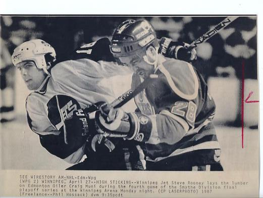 Steve Rooney Jets Original Press Photo Laser Paper Stock Includes Newsclipping w/ Caption on Back Approx. 8.5x11