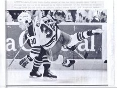 Larry Melnyk Rangers Original Press Photo Laser Paper Stock Includes Newsclipping w/ Caption on Back Approx. 8.5x11