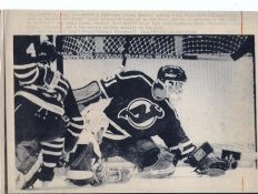Craig Billington Devils Press Photo Laser Paper Stock Includes Newsclipping w/ Caption on Back Approx. 8.5x11
