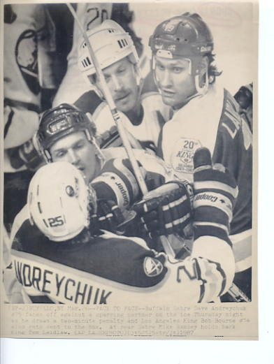 Dave Andreychuk Sabres Original Press Photo Laser Paper Stock Approx. 8.5x11