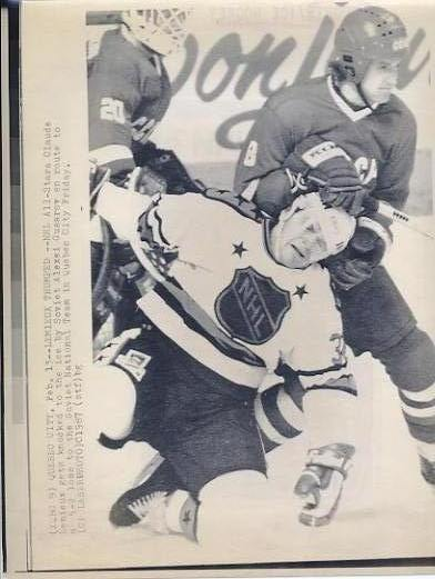 Claude Lemieux NHL All Stars / Canadiens Original Press Photo Laser Paper Stock Includes Newsclipping w/ Caption on Back Approx. 8.5x11