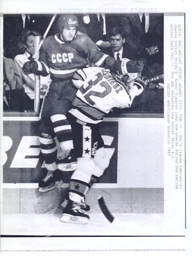 Claude Lemieux NHL All Stars /Canadiens Original Press Photo Laser Paper Stock  Approx. 8.5x11
