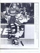 Claude Lemieux NHL All Stars /Canadiens Original Press Photo Laser Paper Stock  Approx. 8.5x11