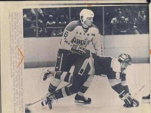 Darren Veitch Capitals & Dennis Maruk North Stars Original Press Photo Laser Paper Stock Includes Newsclipping w/ Caption on Back Approx. 8.5x11