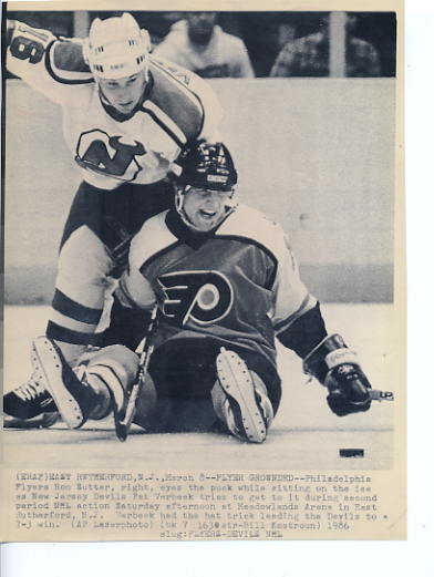 Ron Sutter Flyers Original Press Photo Laser Paper Stock Approx. 8.5x11
