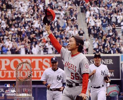 Hideki Matsui 2010 World Series Ring Ceremony Anaheim Angels 8X10 Photo LIMITED STOCK