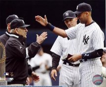 Joe Girardi, Derek Jeter & Yogi Berra 2010 World Series Ring Ceremony New York Yankees LIMITED STOCK 8X10 Photo