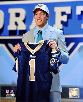 Sam Bradford 2010 #1 Draft Pick St Louis Rams 8X10 Photo
