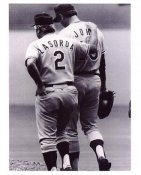 Tommy LaSorda & Tommy John Los Angeles Dodgers 8X10 Photo