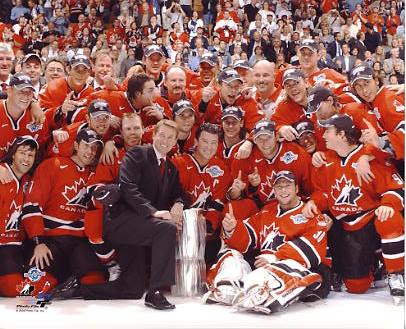 Team Canada 2004 World Cup Champions 8x10 Photo