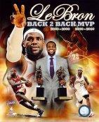 Lebron James Back 2 Back MVP Cleveland Cavaliers 8X10 Photo LIMITED STOCK