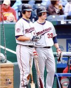 Joe Mauer & Justin Morneau Minnesota Twins 8X10 Photo