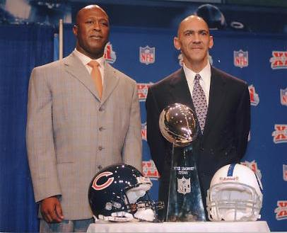 Tony Dungy Colts & Lovie Smith Bears G1 Limited Stock Rare 8X10 Photo