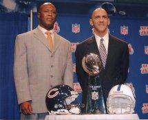 Tony Dungy Colts & Lovie Smith Bears G1 Limited Stock Rare 8X10 Photo
