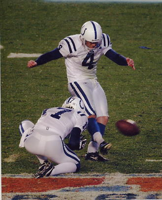Adam Vinatieri G1 Limited Stock Rare Colts 8X10 Photo