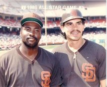 Tony Gwynn & Benito Santiago 1989 All-Star Game G1 Limited Stock Rare Padres 8X10 Photo