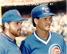 Howard Johnson Mets & Ryne Sandberg Cubs 1989 All-Star Game G1 Limited Stock Rare 8X10 Photo