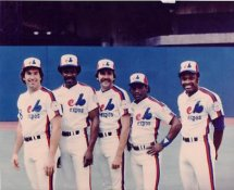 Gary Carter, Andre Dawson, Steve Rogers, Tim Raines & Al Oliver 1982 All-Star Game G1 Limited Stock Rare Montreal Expos 8x10 Photo