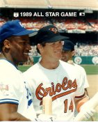 Bo Jackson Royals & Mickey Tettleton Orioles 1989 All-Star Game G1 Limited Stock Rare 8X10 Photo