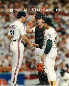 Tony LaRussa A's, Mickey Tettleton Orioles & Greg Swindell Indians 1989 All-Star Game G1 Limited Stock Rare 8X10 Photo