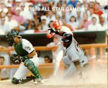 Kevin Mitchell Giants & Terry Steinbach A's 1989 All-Star Game G1 Limited Stock Rare 8X10 Photo