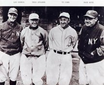 Lou Gehrig, Tris Speaker, Ty Cobb & Babe Ruth New York Yankees 8X10 Photo