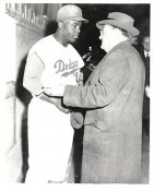 Jackie Robinson & O'Mally G1 Limited Stock Rare Brooklyn Dodgers 8X10 Photo