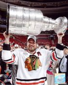 Patrick Sharp With 2010 Stanley Cup Chicago Blackhawks 8x10 Photo