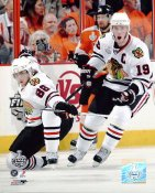 Jonathan Toews & Patrick Kane Game 3 Stanley Cup Finals 2010 Chicago Blackhawks SATIN 8x10 Photo