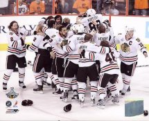 Chicago 2010 Blackhawks Celebrate Stanley Cup Win Game 6 Blackhawks 8x10 Photo
