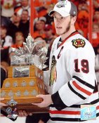 Jonathan Toews With 2010 Conn Smythe Trophy Chicago Blackhawks 8x10 Photo