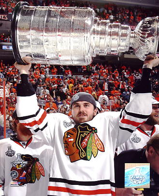 David Bolland With 2010 Stanley Cup Chicago Blackhawks 8x10 Photo