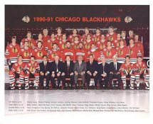Chicago 1990-91 BlackHawks Original Team Limited & Rare 8X10 Photo