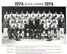 Chicago 1974 BlackHawks Original Team Limited & Rare 8X10 Photo