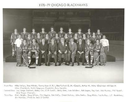 Chicago 1978-79 BlackHawks Original Team Limited & Rare 8X10 Photo