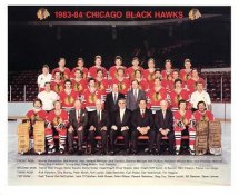 Chicago 1983-84 BlackHawks Original Team Limited & Rare 8X10 Photo