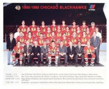 Chicago 1985-86 BlackHawks Original Team Limited & Rare 8X10 Photo