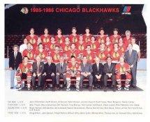 Chicago 1985-86 BlackHawks Original Team Limited & Rare 8X10 Photo