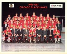 Chicago 1986-87 BlackHawks Original Team Limited & Rare 8X10 Photo SUPER SALE PRICE