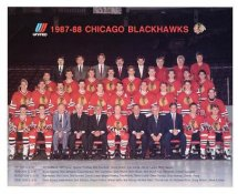 Chicago 1987-88 BlackHawks Original Team Limited & Rare 8X10 Photo SUPER SALE