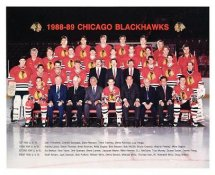 Chicago 1988-89 BlackHawks Original Team Limited & Rare 8X10 Photo