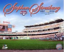 Stephen Strasburg 1st MLB Pitch 2010 Washington Nationals 8X10 Photo