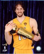 Pau Gasol With Champs Trophy NBA Finals 2010 Los Angeles Lakers 8x10 Photo LIMITED STOCK