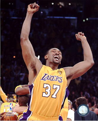 Ron Artest Game 7 Celebration NBA Champs 2010 LIMITED STOCK LA Lakers 8X10 Photo